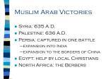 muslim arab victories