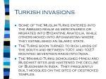 turkish invasions