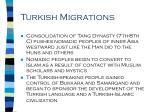 turkish migrations