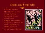 chants and songspells