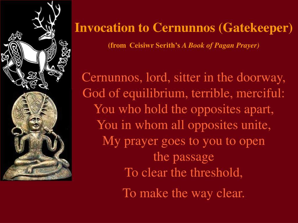 Invocation to Cernunnos (Gatekeeper)
