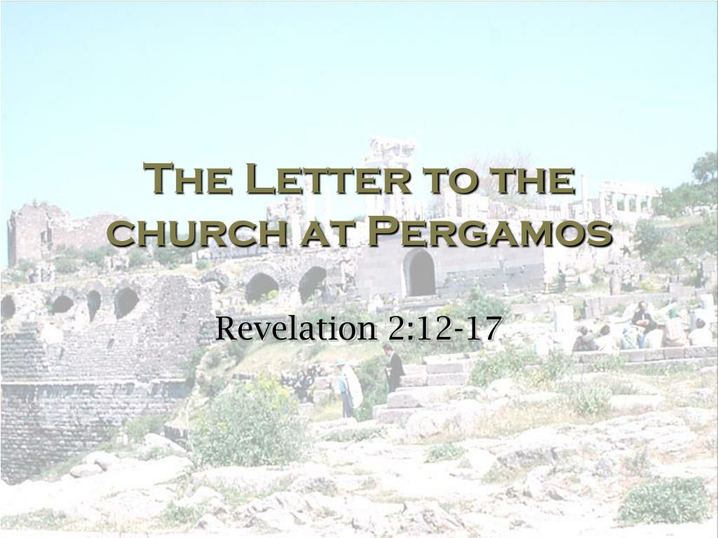 the letter to the church at pergamos l.