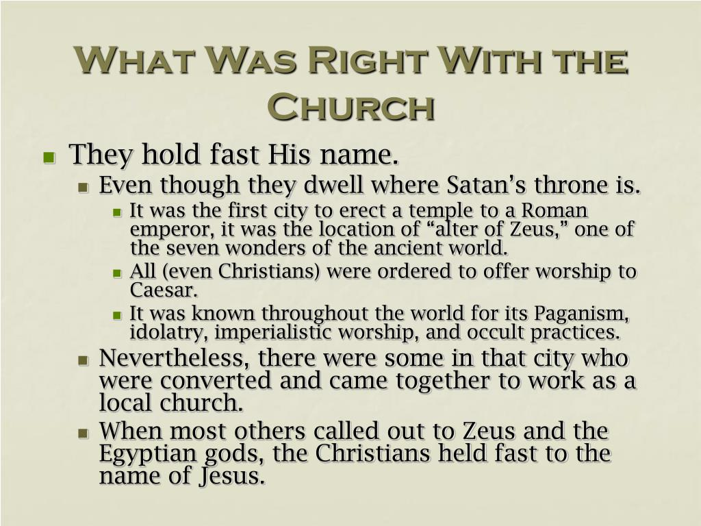 What Was Right With the Church