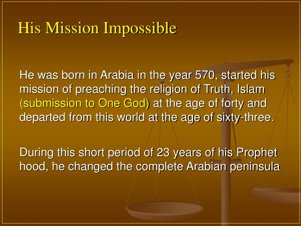 His Mission Impossible