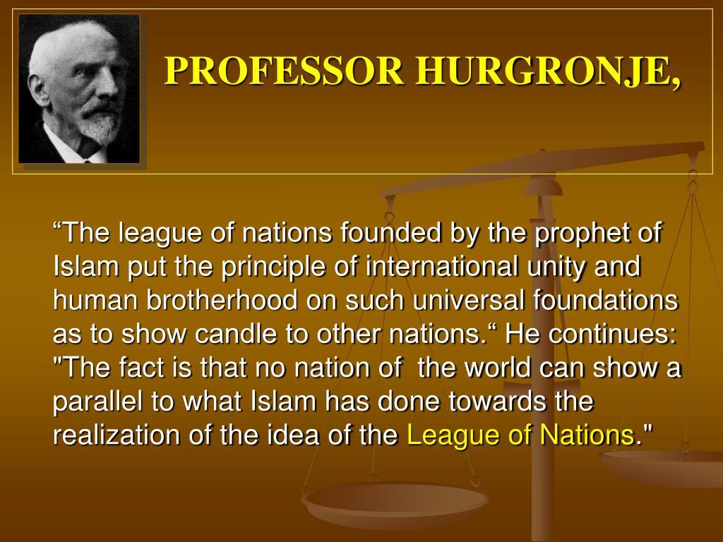 PROFESSOR HURGRONJE,