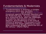 fundamentalists modernists18