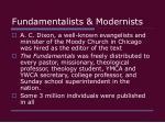 fundamentalists modernists28