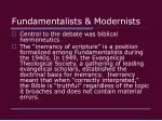 fundamentalists modernists30