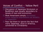voices of conflict yellow peril12