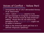 voices of conflict yellow peril4