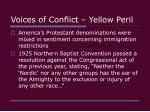 voices of conflict yellow peril5