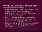 voices of conflict yellow peril7