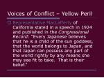 voices of conflict yellow peril8