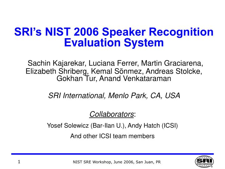 thesis on speaker recognition system