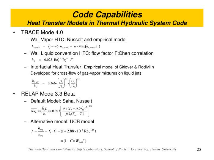 predicting thermal hydraulic behaviour of nuclear reactors A knowledge of reactor physics is essential to nuclear engineers, who deal with nuclear reactors  thermal-hydraulic computing.