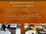 environmental health green city project