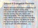 critique of evangelical feminists