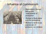 influence of communism