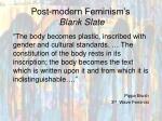 post modern feminism s blank slate