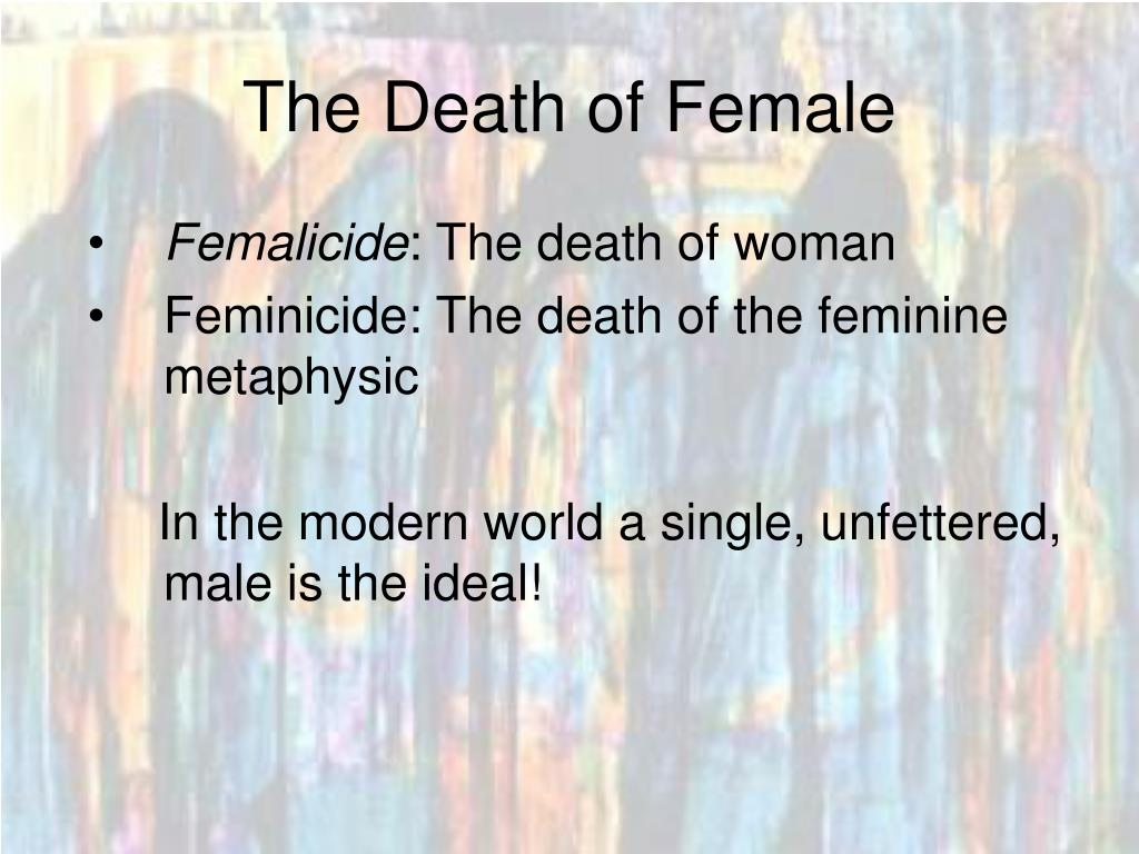 The Death of Female