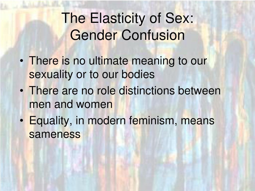 The Elasticity of Sex: