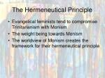 the hermeneutical principle