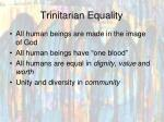 trinitarian equality