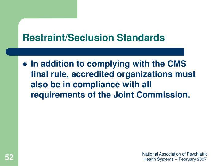 Restraint/Seclusion Standards