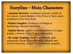 storyline main characters