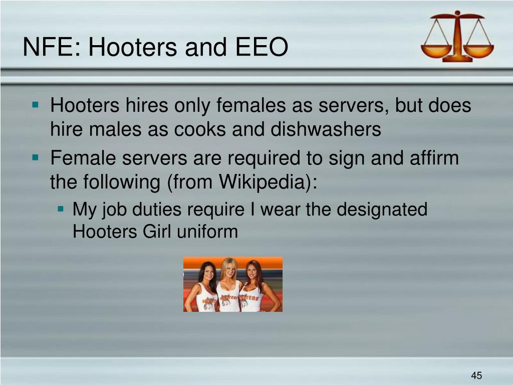 NFE: Hooters and EEO