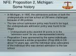 nfe proposition 2 michigan some history
