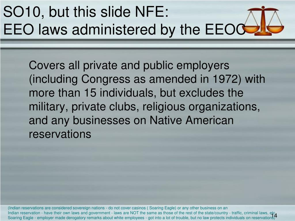 SO10, but this slide NFE: