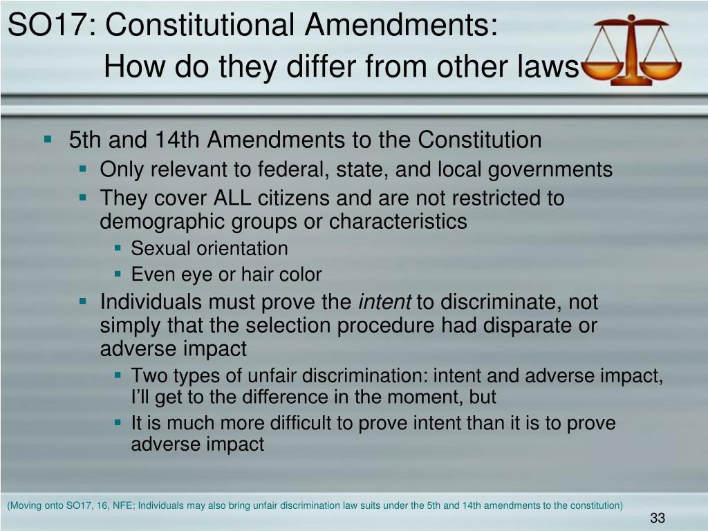 SO17: Constitutional Amendments: