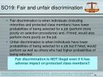 so19 fair and unfair discrimination