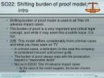 so22 shifting burden of proof model intro