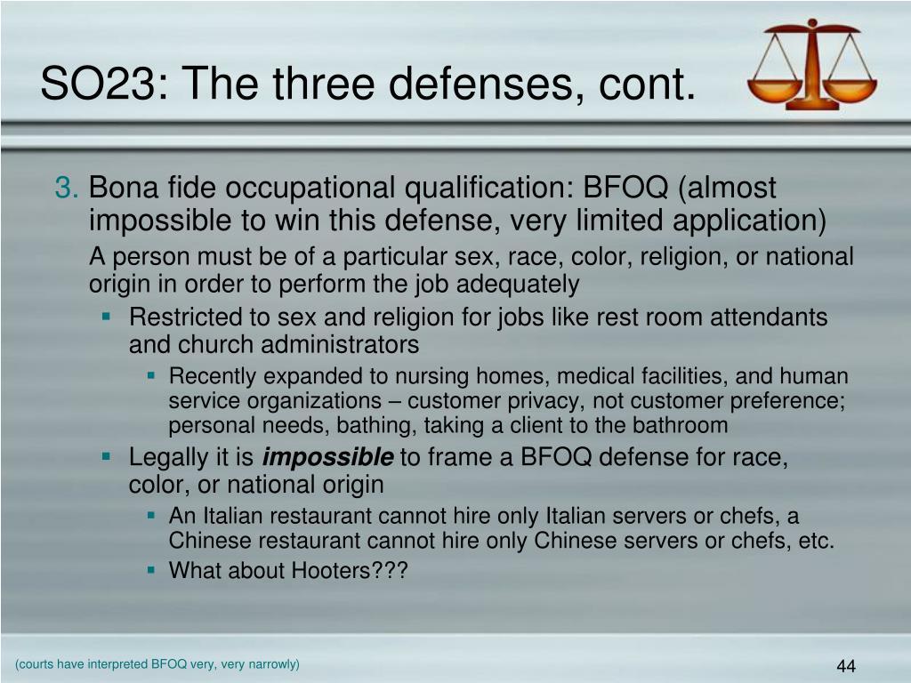SO23: The three defenses, cont.