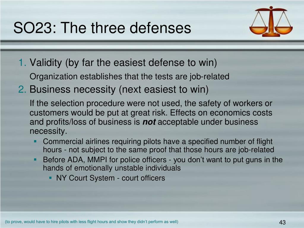 SO23: The three defenses