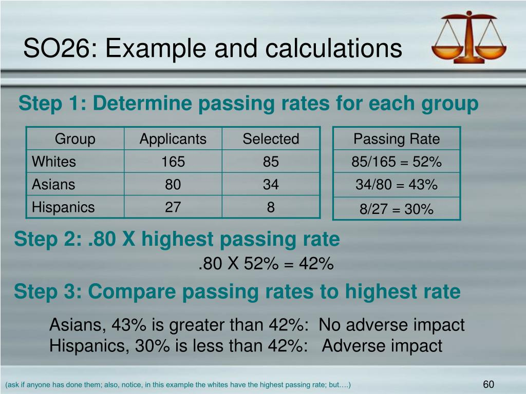 SO26: Example and calculations