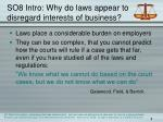 so8 intro why do laws appear to disregard interests of business