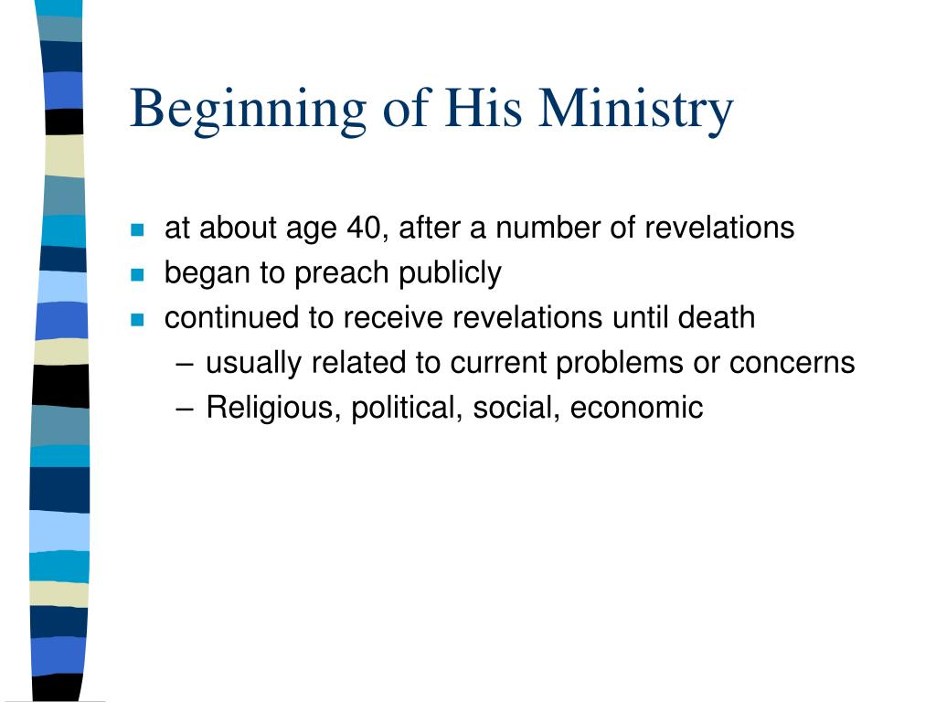 Beginning of His Ministry