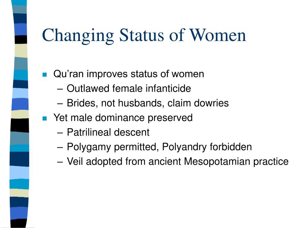 Changing Status of Women