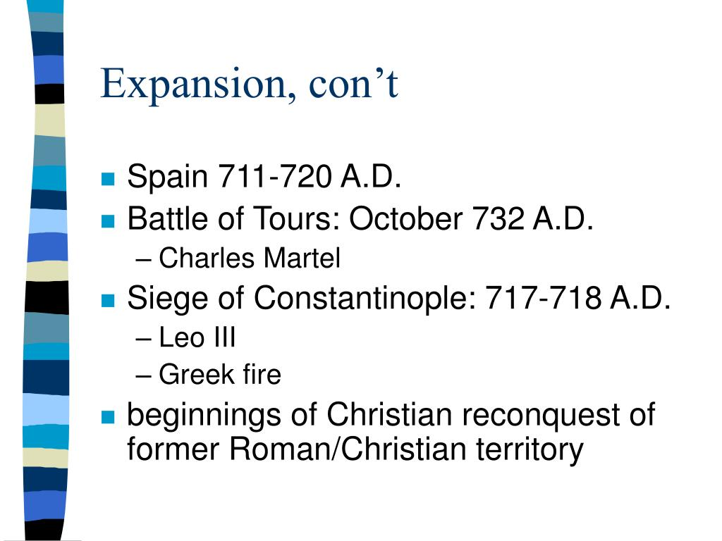 Expansion, con't
