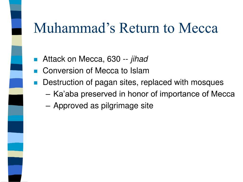 Muhammad's Return to Mecca