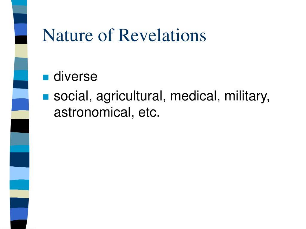 Nature of Revelations