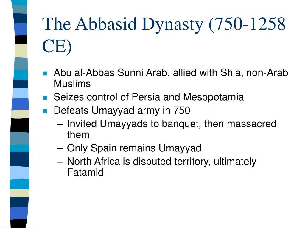 The Abbasid Dynasty (750-1258 CE)
