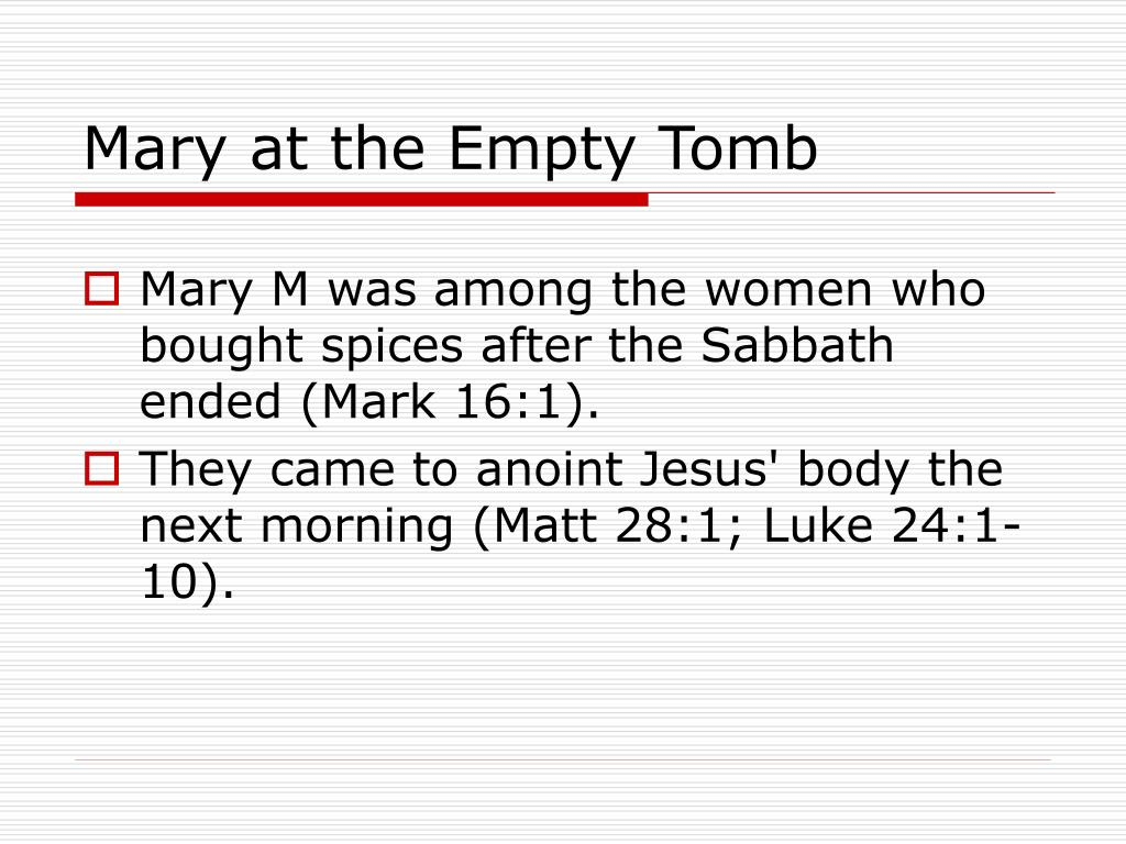 Mary at the Empty Tomb