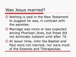 was jesus married