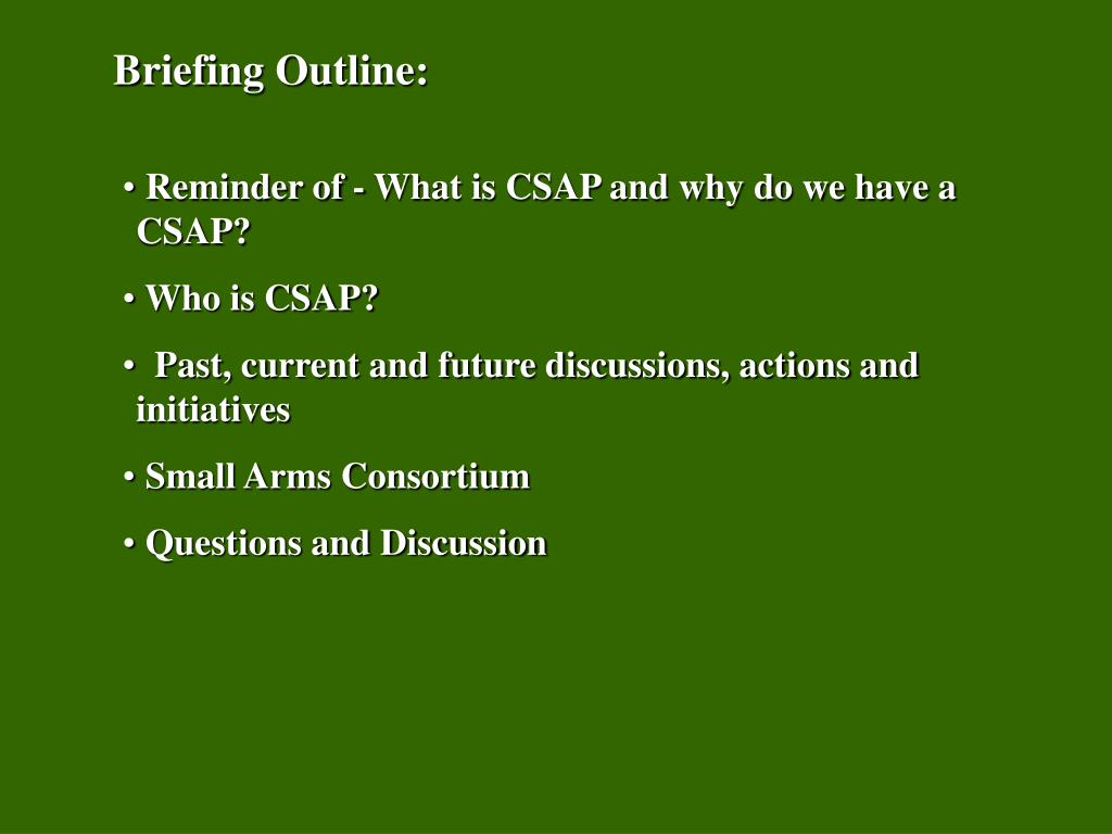 Briefing Outline: