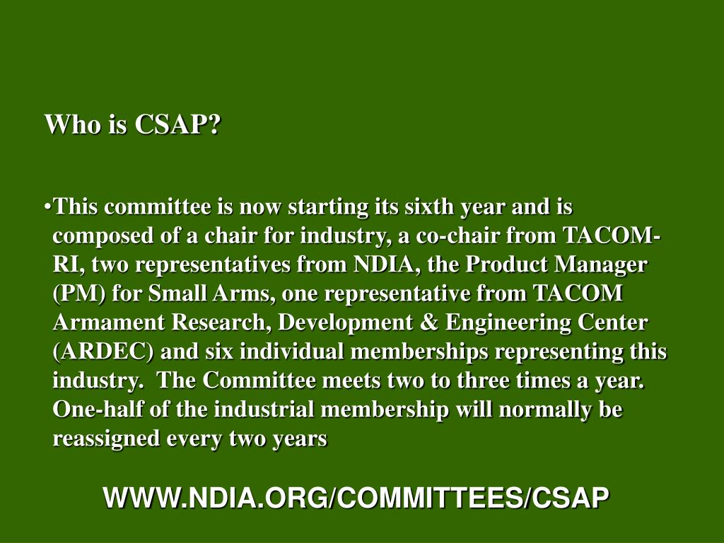 Who is CSAP?