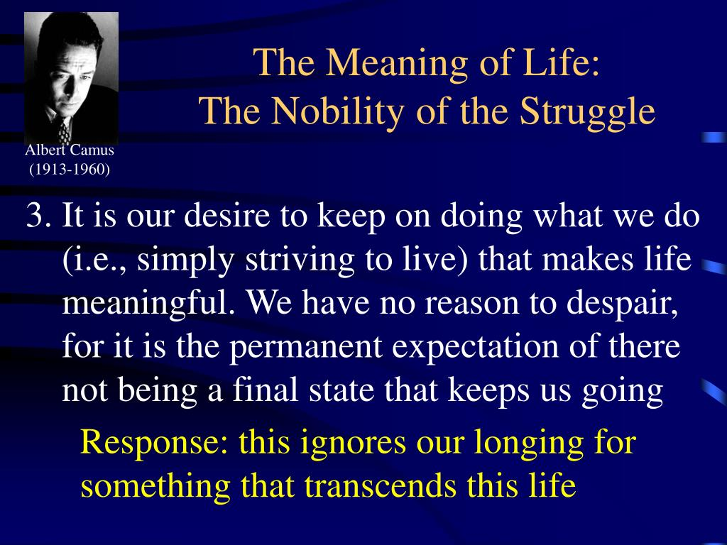 The Meaning of Life: